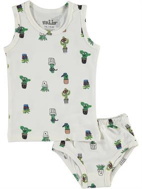Kujju 9-18 Months Baby Boy White Underwear Team