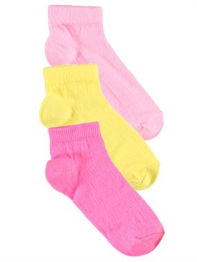 Civil Girls 3 girl-age 2-12 Set of socks Yellow