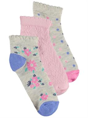 Civil Girls 3 girl-age 2-12 Set of socks Grey