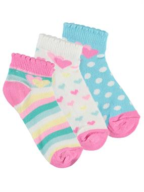 Civil Girls Girl 3-the ages of 2-12 Ecru Set of socks