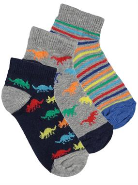 Civil Boys Boy 3-the ages of 2-6 Gray Socks Set