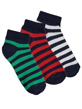 Civil Boys Erkek Çocuk 3'lü Çorap Set 2-12 Yaş Yeşil