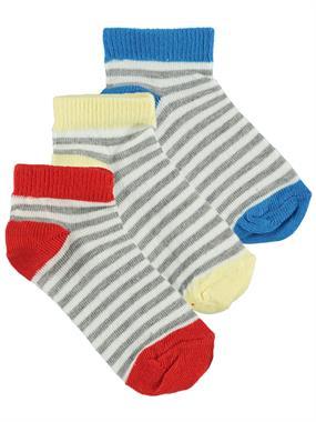 Civil Boys Erkek Çocuk 3'lü Çorap Set 2-12 Yaş Gri