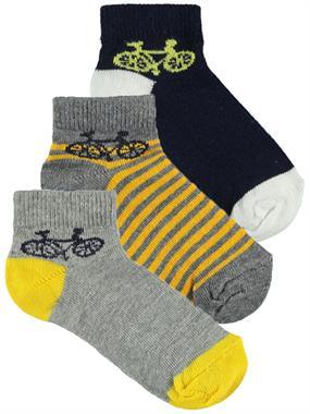 Civil Boys Erkek Çocuk 3'lü Çorap Set 2-12 Yaş Füme