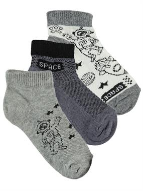 Civil Boys Boy 3-Set of socks Grey age 2-12
