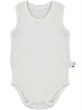 Civil Baby Ecru 0-3 Months Baby Bodysuit With Snaps