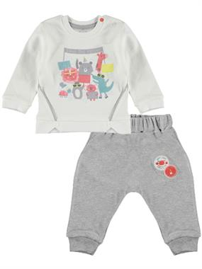 T.F.Taffy 0-3 Months Baby Boy Gray Suit