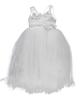 Civil Girls Ecru Tulle Evening Dresses 2-5 Years Girls