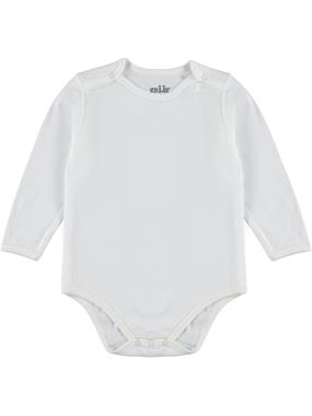 Kujju 12-24 Months Baby Bodysuit With Snaps Ecru