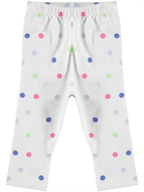Kujju Ecru Baby Girl Long Tights 6-18 Months