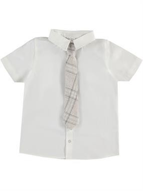 Civil Boys Ecru Shirt With Tie Age 6-9 Boy