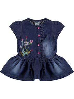 Civil Baby Frilly Baby Girl Dress Denim Blue-6-18 Months