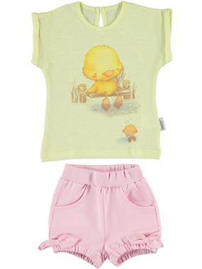 Kujju 6-18 Months Baby Girl Shorts Yellow Team