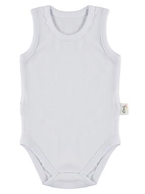 Civil Baby White Baby 0-3 Months Bodysuit With Snaps