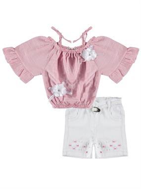 Civil Girls Age 6-9 Girl In Boy Shorts Fuchsia Team