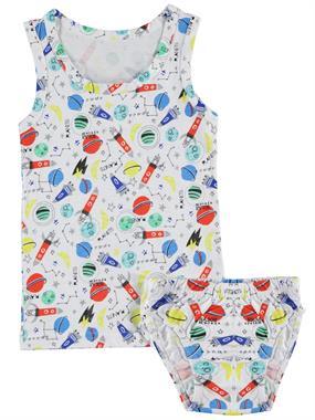 Donella Erkek Çocuk İç Çamaşır Takımı 2-8 Yaş Beyaz