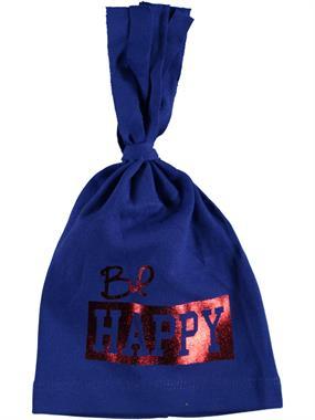 Albimama Printed Blue Happy Beanie Baby Age 0-2 Saks