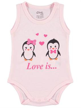 Civil Baby 0-18 Months Baby Girl Pink Bodysuit With Snaps