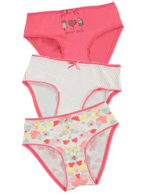 Civil Girls 3 girl child panties-set of the ages of 2-10 tongue in cheek
