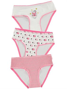 Civil Girls Panties girl child 3-age 10 ecru set of 2