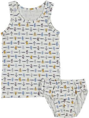 Donella Erkek Çocuk İç Çamaşır Takımı 2-8 Yaş Ekru