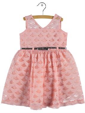 Civil Girls Powder Pink Lace Dress Girl Age 6-9