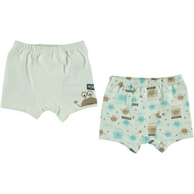 Civil Baby boy's 2-Boxer 9-18 months Set Ecru