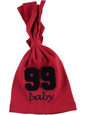 Albimama 99 Red Embroidered Beanie Baby Age 0-2