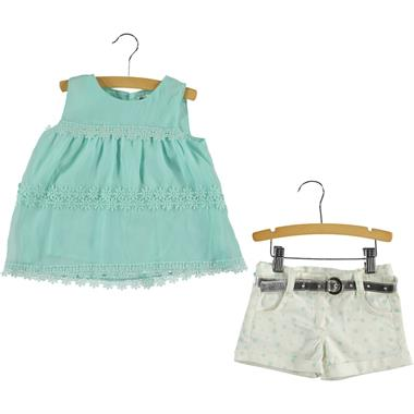 Civil Girls The Team In 2-5 Years Mint Green Boy Shorts Girl