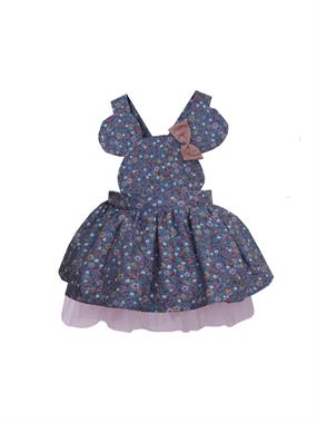 Shecco Babba Girl In Blue Mini Dress 5-8 Years
