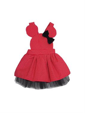 Shecco Babba Girl Red 5-8 Years Mini Dress