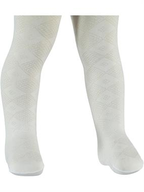Bella Calze 0-24 Months Baby Girl White Pantyhose