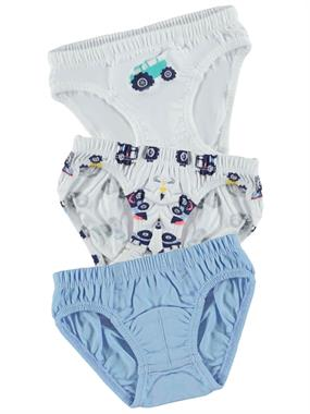 Cvl Boy 3-the ages of 2-10 Panty Set White