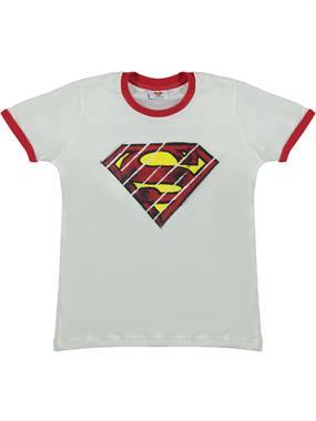 Superman Erkek Çocuk Tişört 3-8 Yaş Krem