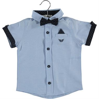 Civil Boys 2-5 Years Blue Shirt With A Bow Tie Boy