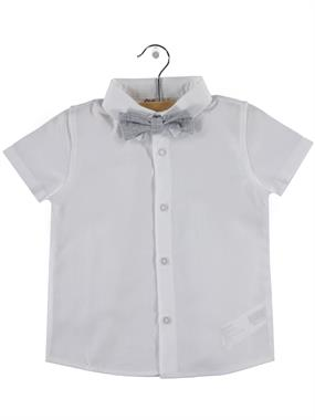 Civil Boys 2-5 Years White Shirt With A Bow Tie Boy