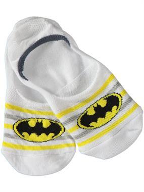 Batman Age 5-9 Boy Socks White Ballet Flats (2)