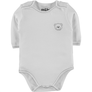 Kujju Combing Unisex Baby Bodysuit With Snaps-White, 12-24 Months