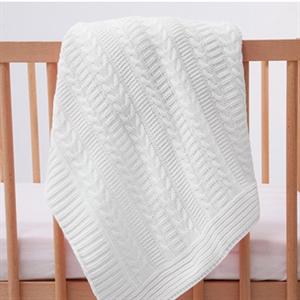 Mycey Cream knitted Blanket 90x100 CM