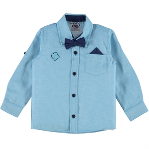 Civil Boys 2-5 Years Boy Turquoise Shirt With A Bow Tie