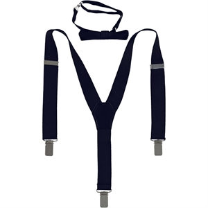 Civil Love and bow tie set in navy blue 1-3 years