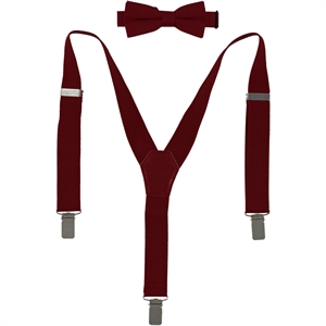 Civil 1-3 years of love and Bow Tie Set Burgundy