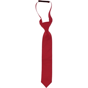 Civil Boy's Plain Red Satin Tie On The Ages Of 2-8
