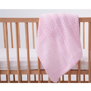 Mycey Pink knitted Blanket 90x100 CM