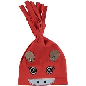 Leoncino Combed Cotton Hat 0-6 Months: Tongue In Cheek