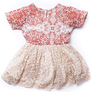Shecco Babba Baby Girl Tutu Dress Rose Patterned Chichewa