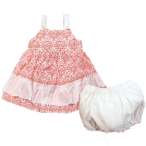Shecco Babba A Frilly Dresses Shorts Baby Girl With A Strap Coral Open Team