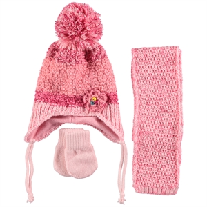 Civil Gloves Hat Scarf Set 0-18 Months Baby Girls Powder Pink