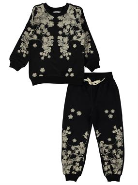 Cvl Black Sweat Suit Boy Girl 2-5 Years