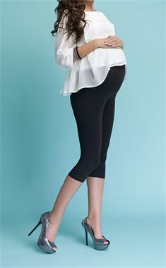Luvmabelly 55747 - Pregnant Black Capri Tights Lullabelly